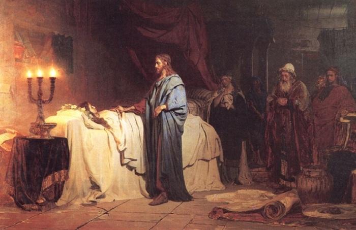 «Воскрешение дочери Иаира» (1871 год). Автор: Илья Репин.