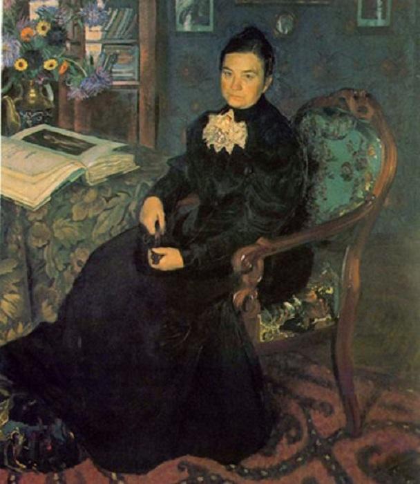 Екатерина Прохоровна Кустодиева. Автор: Борис Кустодиев.