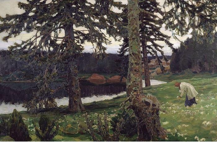 «Озеро» (1902). Автор: Аполлинарий Васнецов.