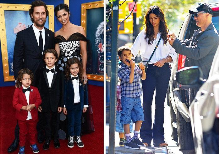 Мэттью Макконахи с супругой и детьми.