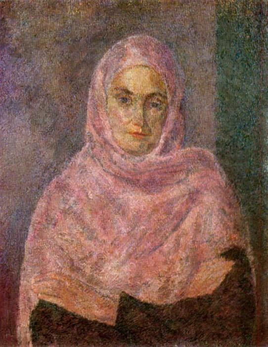 В розовой шали. (А.В.Щекин-Кротова). (1953г.). Автор: Роберт Рафаилович Фальк.