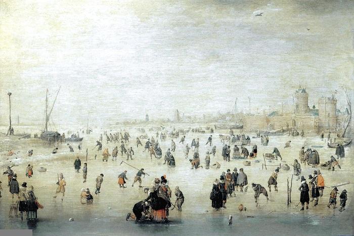 Катание на коньках, 1610-1615 г.г