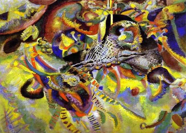 Фуга. (1914).(Sotheby's, 2014). 19,4 млн. долларов.  Автор: Василий Кандинский.