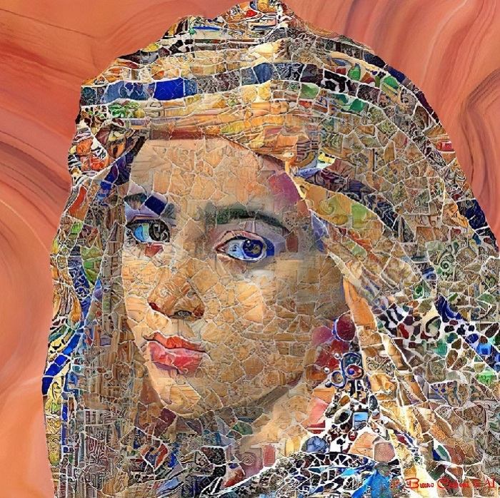 Цифровые мозаики из цикла «Люди мира» от Бруно Чербони.