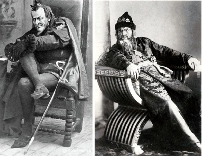 Федор Шаляпин в сценических образах Мефистофеля, Ивана Грозного.