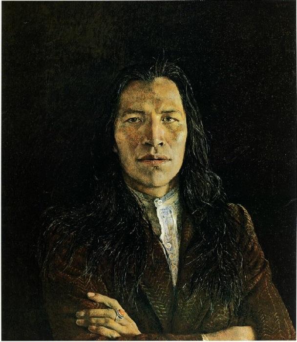 Портретная живопись от Эндрю Уайета.