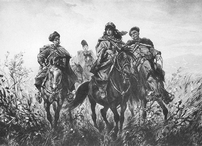 Обратный путь с Валадынки. Иллюстрации к роману «Огнем и мечом» Юлиуша Коссака.