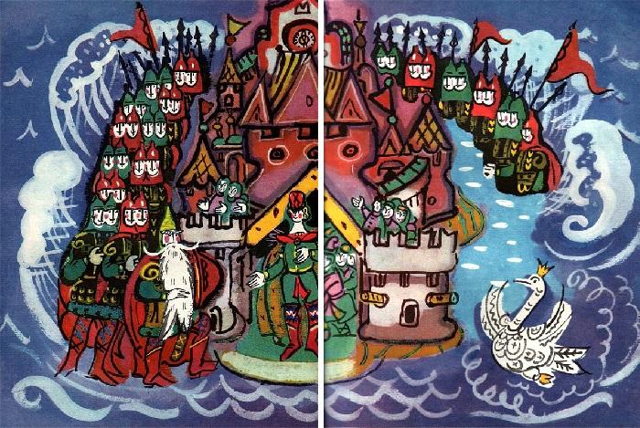 Иллюстрации Татьяны Мавриной к сказкам Пушкина.