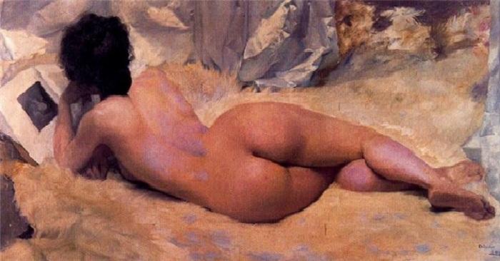«Обнаженная». (1895 год). Автор: Сальвадор Диас Игнасио Руис де Олано.