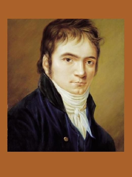 Людвиг ван Бетховен в молодые годы.