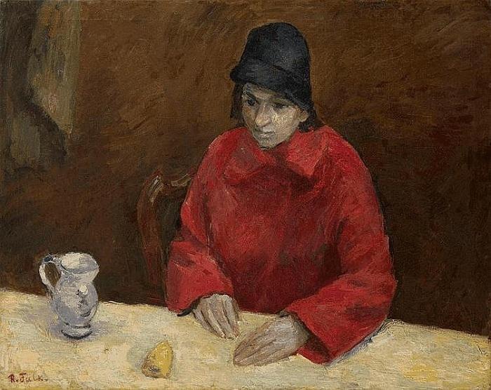 «Женщина в красном. Любовь Георгиевна Попеску». (1930 г.). Автор: Роберт Рафаилович Фальк.