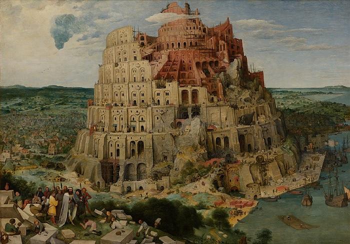 «Вавилонская башня», Питер Брейгель Старший (1563) 114 х 155см. Дерево, масло. Музей истории искусств, Вена.