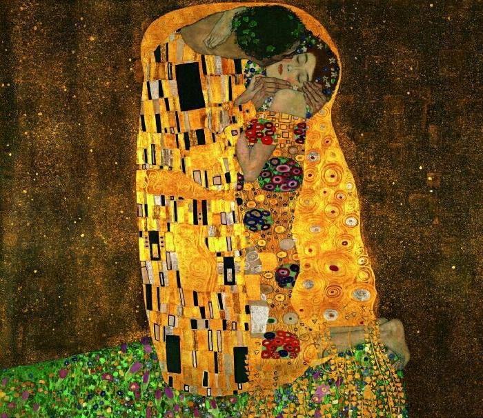 «Поцелуй». Автор: Густав Климт.