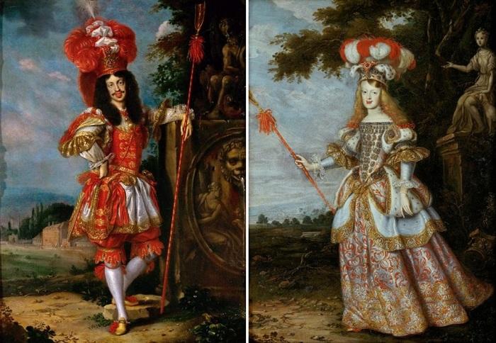 Парный портрет императора и его молодой жены. Автор: Ян Томас.