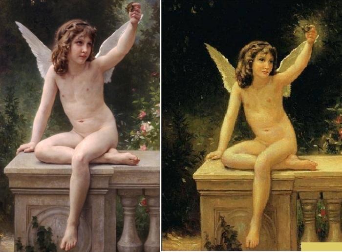 1. Адольф-Вильям Бугро. «Пойманная бабочка».<br>2. Никас Сафронов. «Ангел».