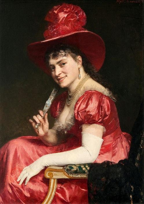 Женщина в красном платье. Автор: Юрий Леман.