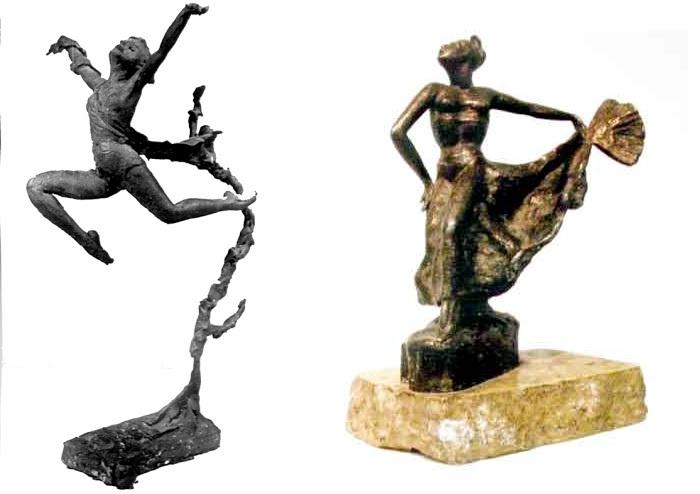 Прыжок. (Искусствоведы относили «Прыжок» к лучшим произведениям современной пластики малых форм. Сейчас скульптура находится в Третьяковской галерее). / Танцевальная сюита.