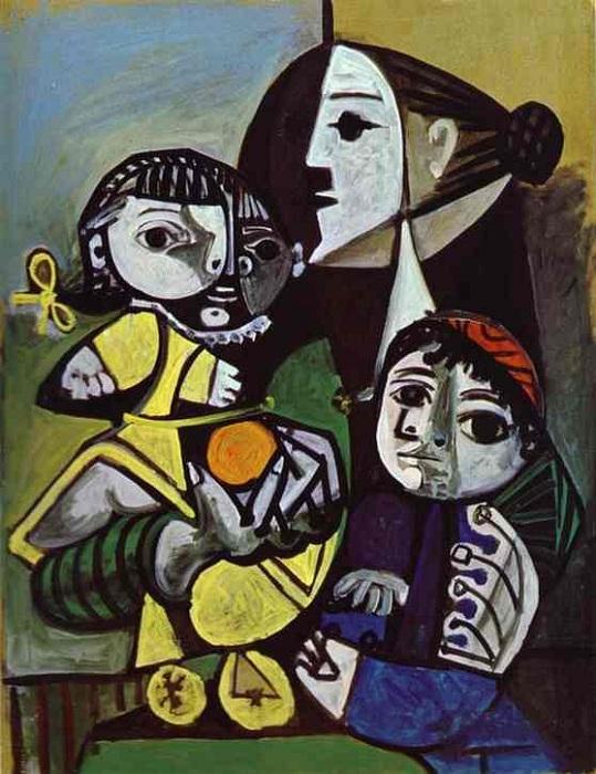 Франсуаза, Клод и Палома. (1951).