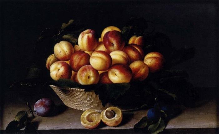 Корзина с персиками. Автор: Луиза Муайон.