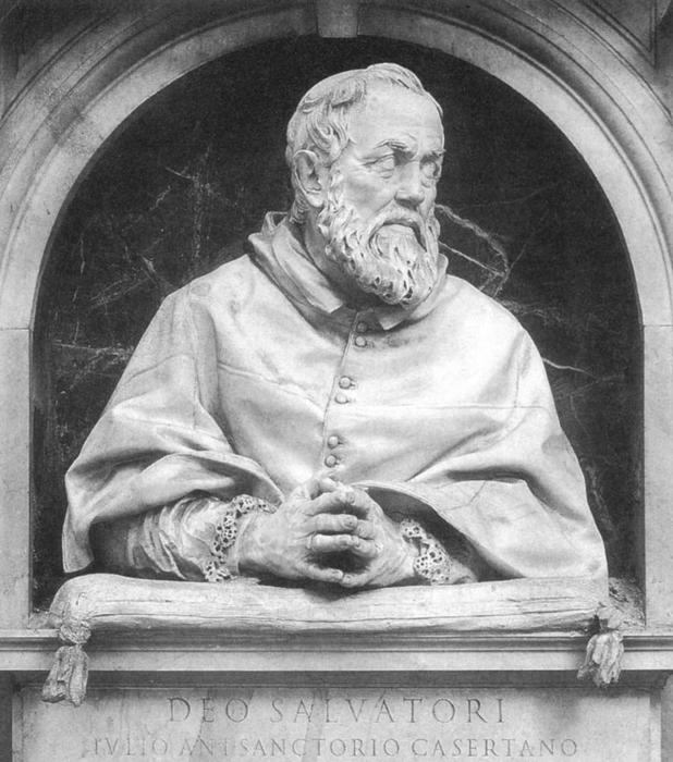 Портрет Джулио Антонио Санторио - архиепископа Святой Северины.  Скульптор: Джулиано Финелли.