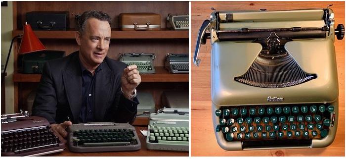 Том Хэнкс и его уникальная коллекция раритетных пишущих машинок.