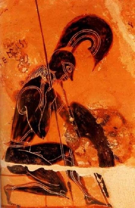 Бог войны - Арес. Античная вазопись.