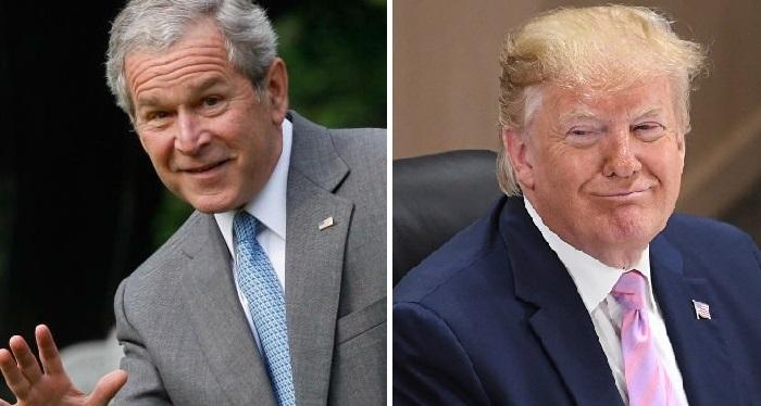 Номинанты на «Золотую малину» - Джордж Буш-младший (2004) и Дональд Трамп (2019).