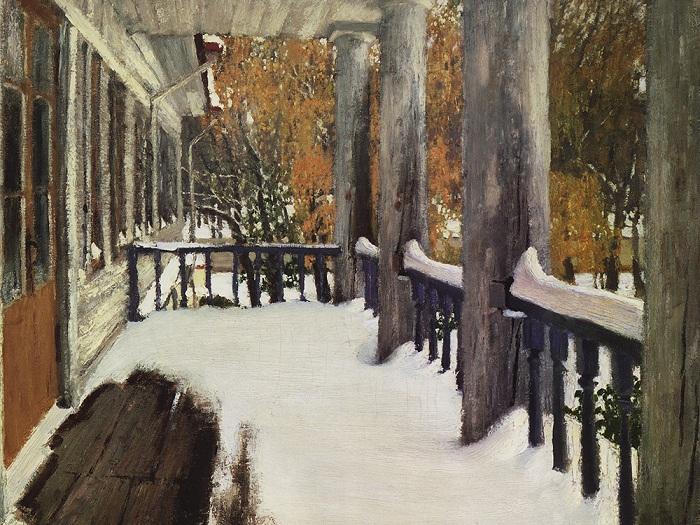 Сентябрьский снег. 1903 год. Автор: Игорь Грабарь.