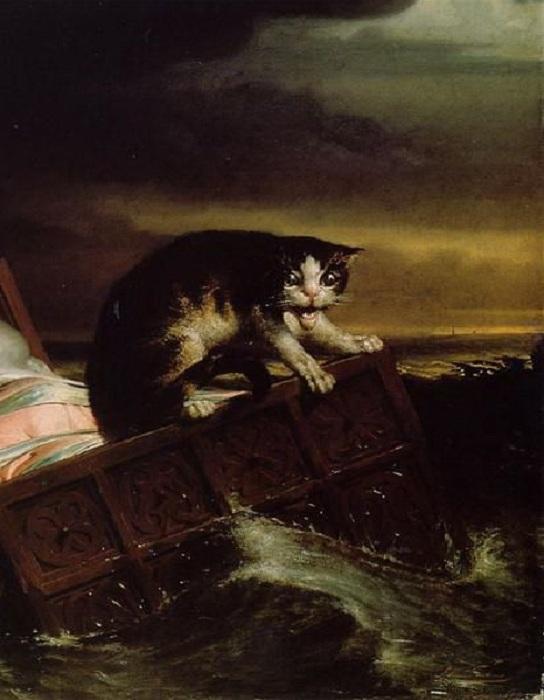 «Наводнение в Бисбосе в 1421 году». Фрагмент. Автор: Лоуренс Альма–Тадема.