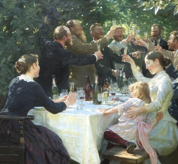 Гип-Гип-Ура! Праздник художников в Скагене. (1888 год). Автор: Педер Северин Крёйер.