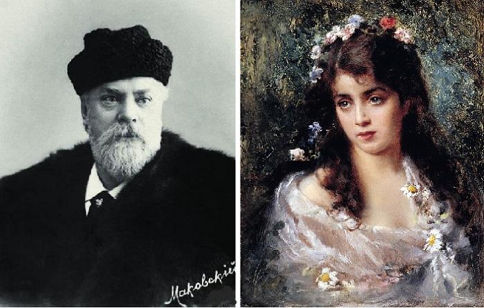 Константин Егорович Маковский. / Девушка в костюме Флоры.