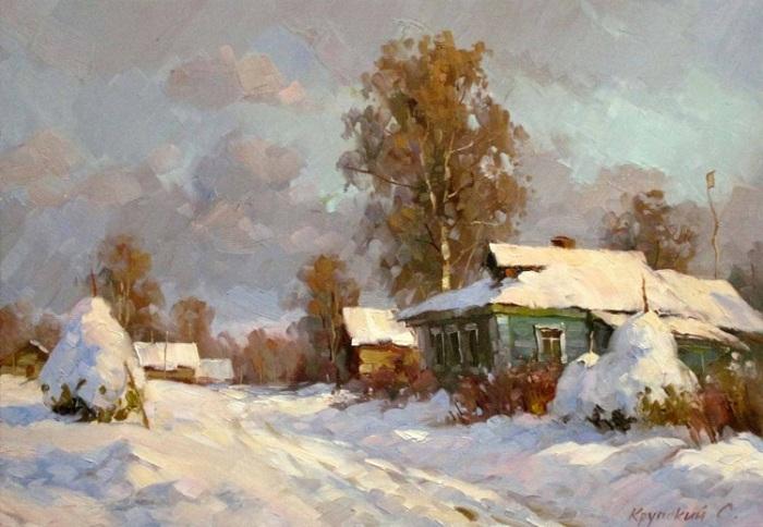 Зимние пейзажи Сергея Крупского.