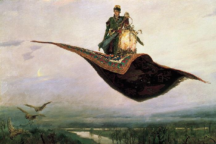 Ковер-самолет. (1880 гг.) Холст, Масло. 165х297 см. Автор: В. М. Васнецов.