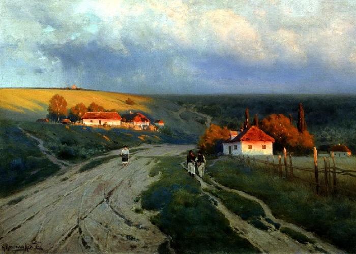«Вечер на Украине». 1901 год. Художник: Константин Крыжицкий.