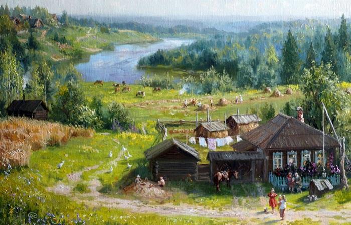 «Времена года. Июль». Автор: Владимир Жданов.