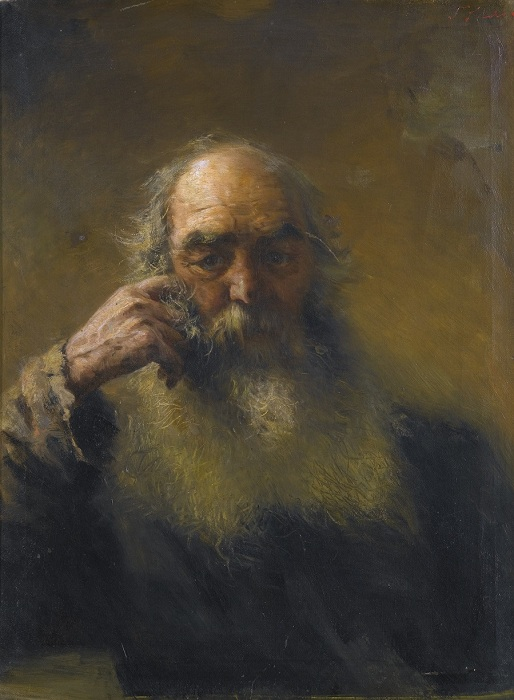 Портрет старика. Частная коллекция. Автор: Г.Г. Мясоедов.
