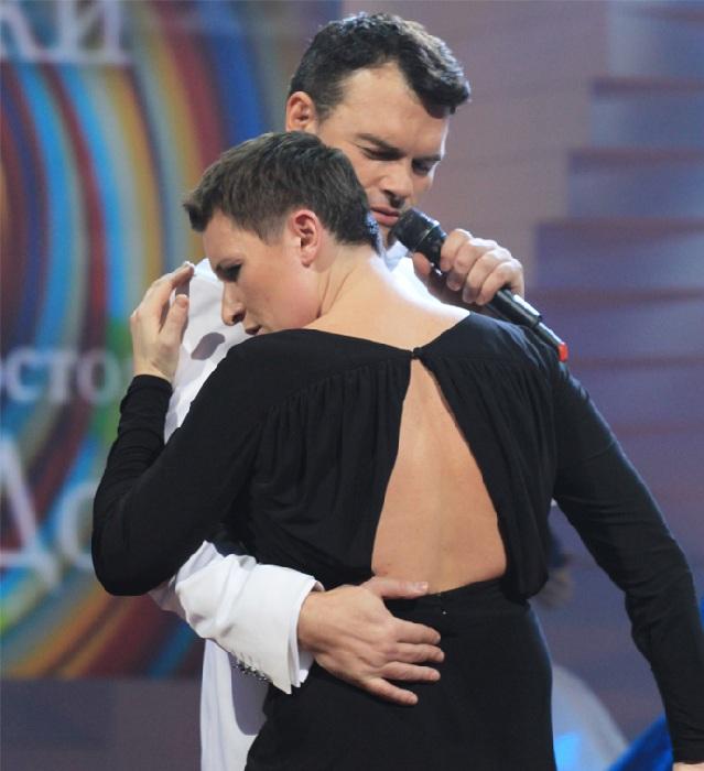 Дятлов и Диана Арбенина в музыкальном шоу «Две звезды-2».