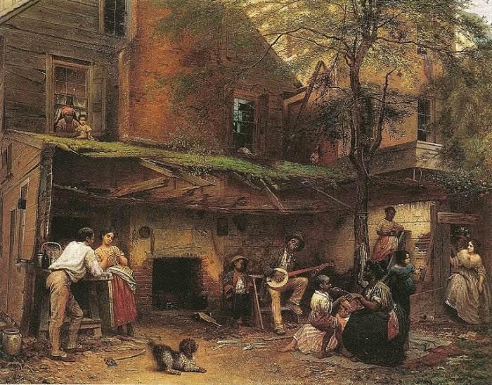 «Жизнь рабов на Юге» или «Старый дом в Кентукки». (1859 г.)  Автор: Истмен Джонсон.