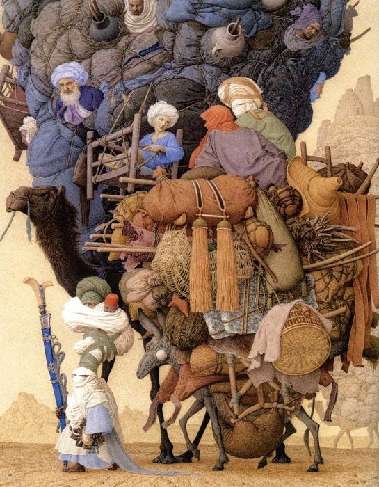 Иллюстрация для книги Мадонны «Приключения Абди».
