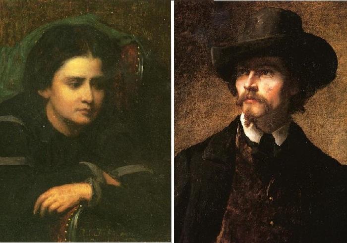«Cachette». «Кашетта». / «A man in a hat». «Мужчина в шляпе». Портретная живопись  Истмена Джонсона.
