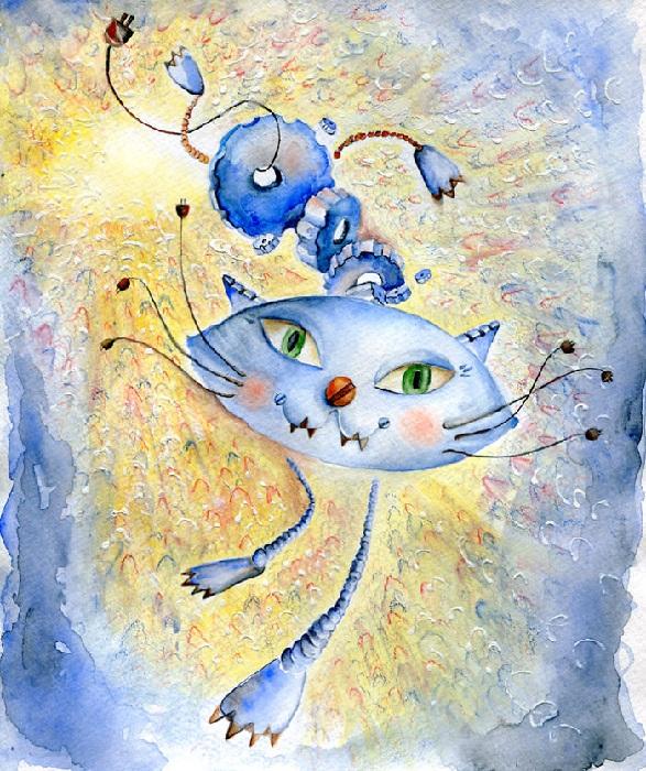 Кот в стиле футуризма.
