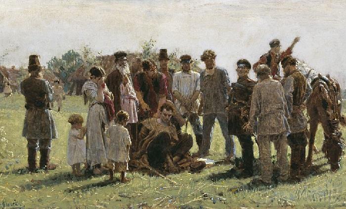 «Беглый» (1883 год). Автор: К.А.Савицкий.