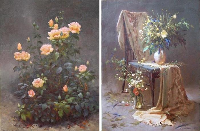 Цветочные мотивы от Валентина Рекуненко.