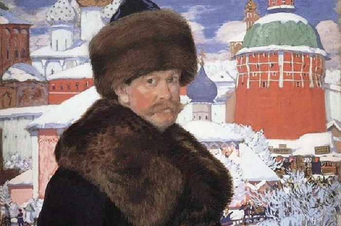 Борис Кустодиев. Автопортрет.