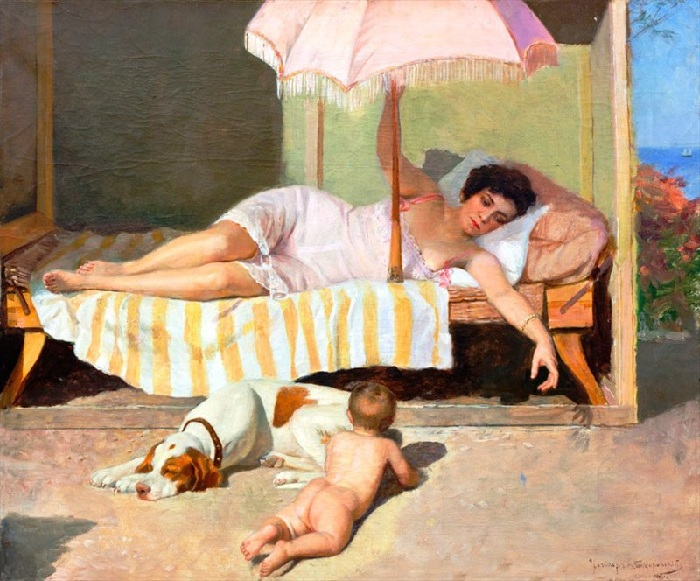 Солнечные ванны. Автор: Николай Бодаревский.