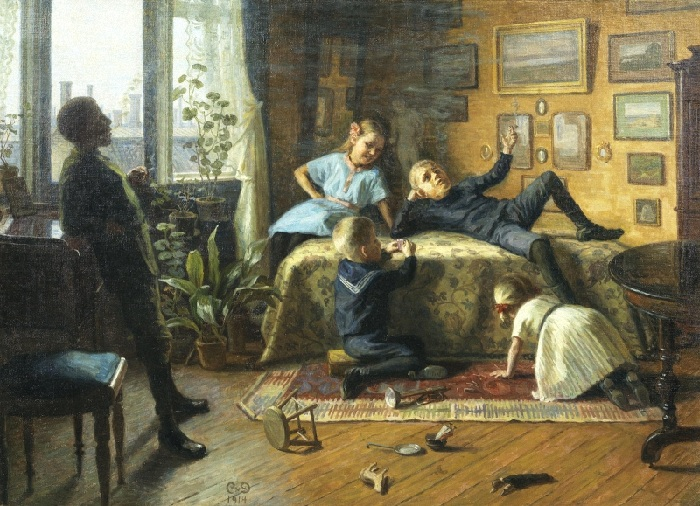 Кэролайн ван Дёрс (1860-1932). Дания. Взрослые игры.