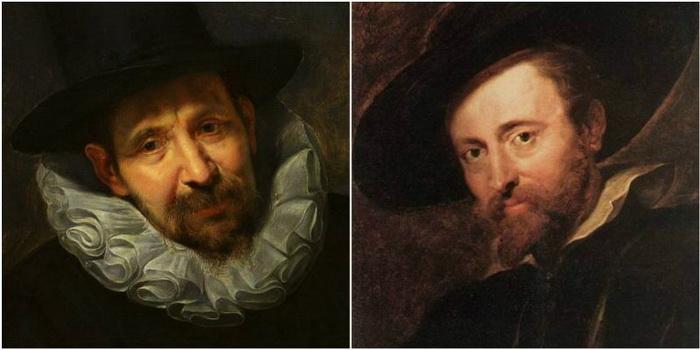 Ян Брейгель Старший, портрет кисти Рубенса (фрагмент семейного портрета художника); Питер Пауль Рубенс, автопортрет.