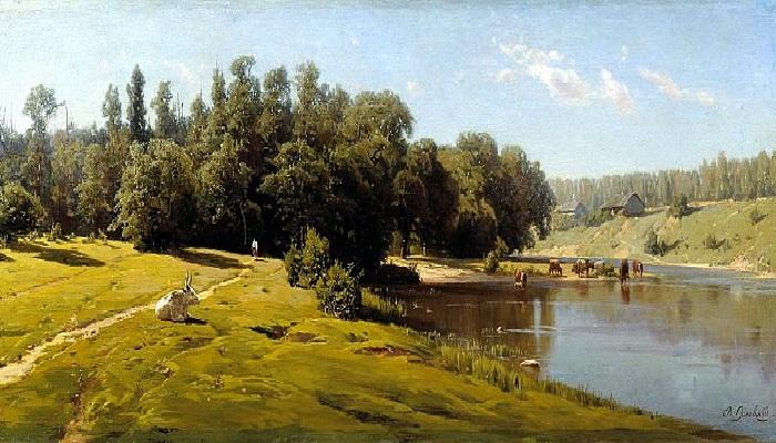 «Полдень». (1880 год). Художник: Владимир Орловский.