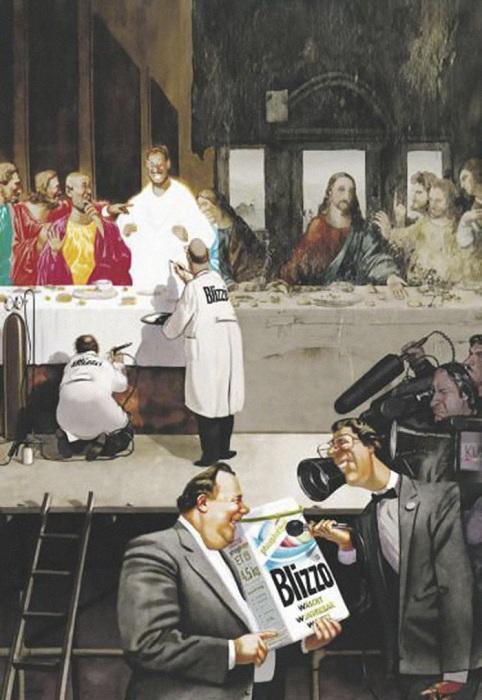 Реставрационные работы. Из серии «Жизнь Христа». Сатира от Gerhard Haderer.