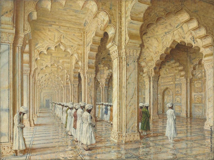«Жемчужная мечеть в Агре». 1870—80-е годы.  В.Верещагин